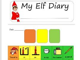 Elf on a shelf diary