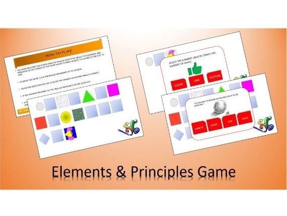 Elements & Principles of Art Interactive Board Game