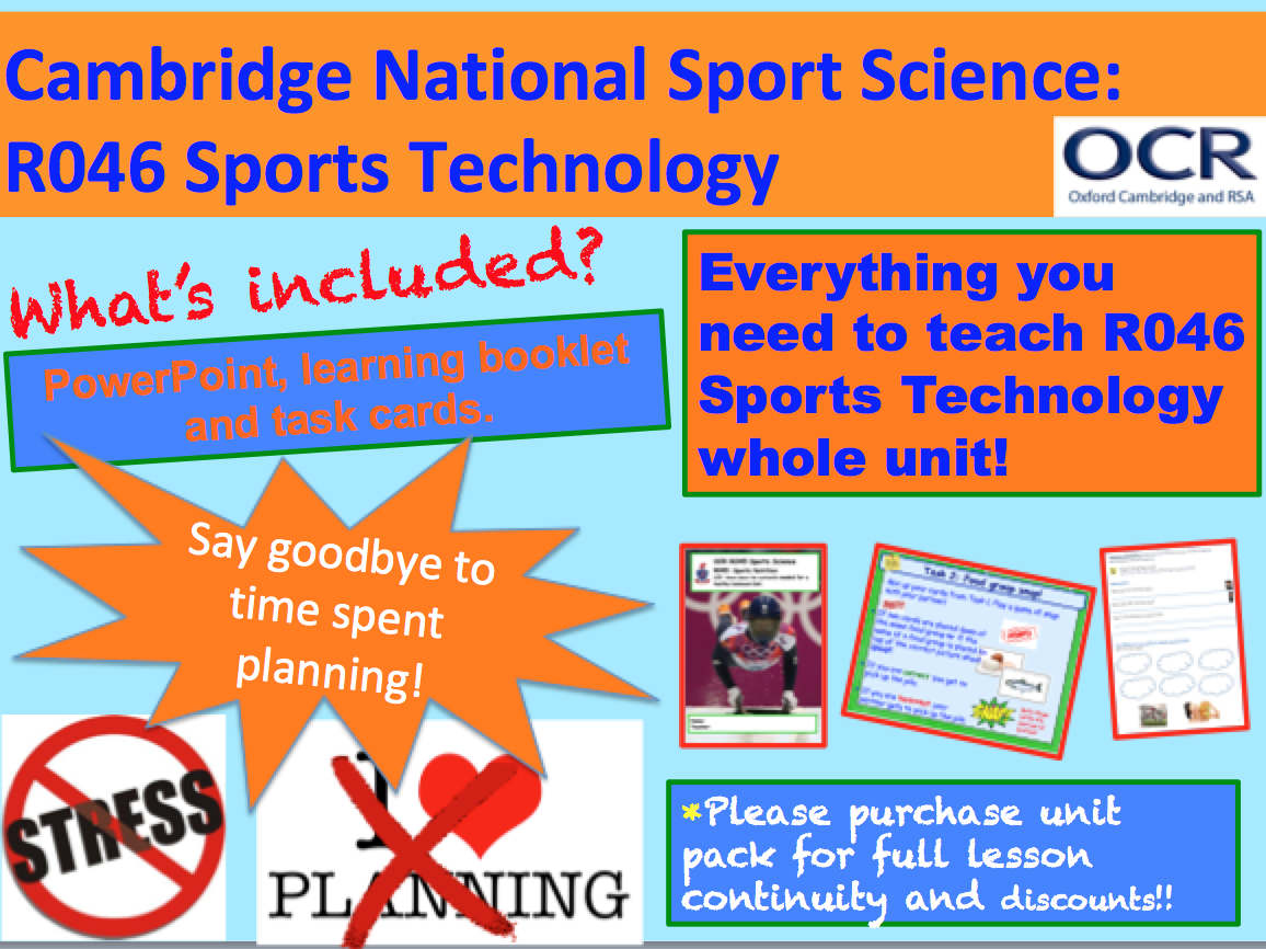 Cambridge National Sports Science R046: Sports Technology