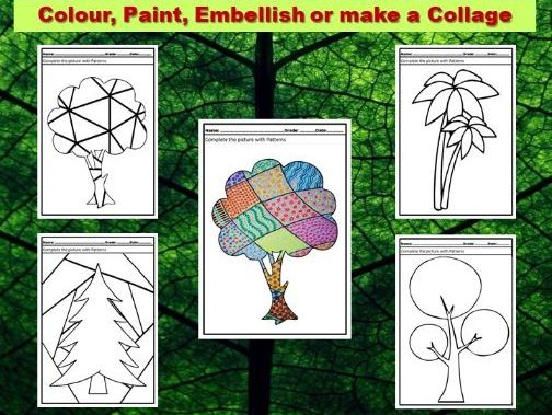 Art Project Pattern Art Trees
