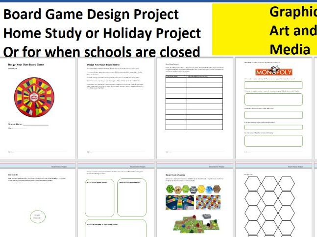 Home Study Design Project - Design Your Own Board Game