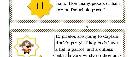 Pirate KS1 Maths Challenge Card Activity