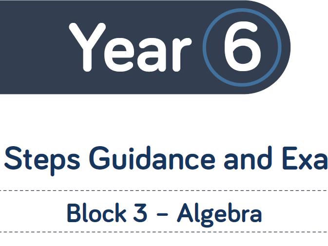 White Rose year 6 Spring block 3 algebra