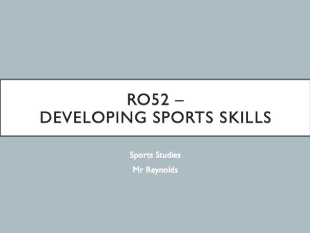 Sports Studies - Unit RO52 - Developing Sports Skills Teacher PowerPoint (OCR Cambridge National)