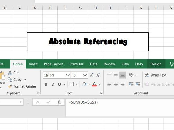 ICT Absolute Referencing Microsoft Excel