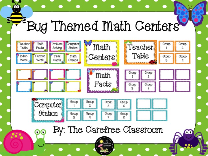 Math Centers: Bug Theme
