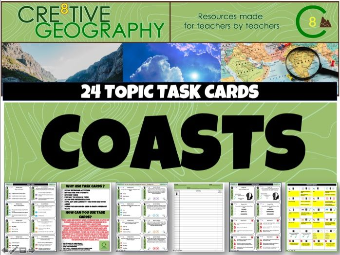 Coasts Geography Task Cards