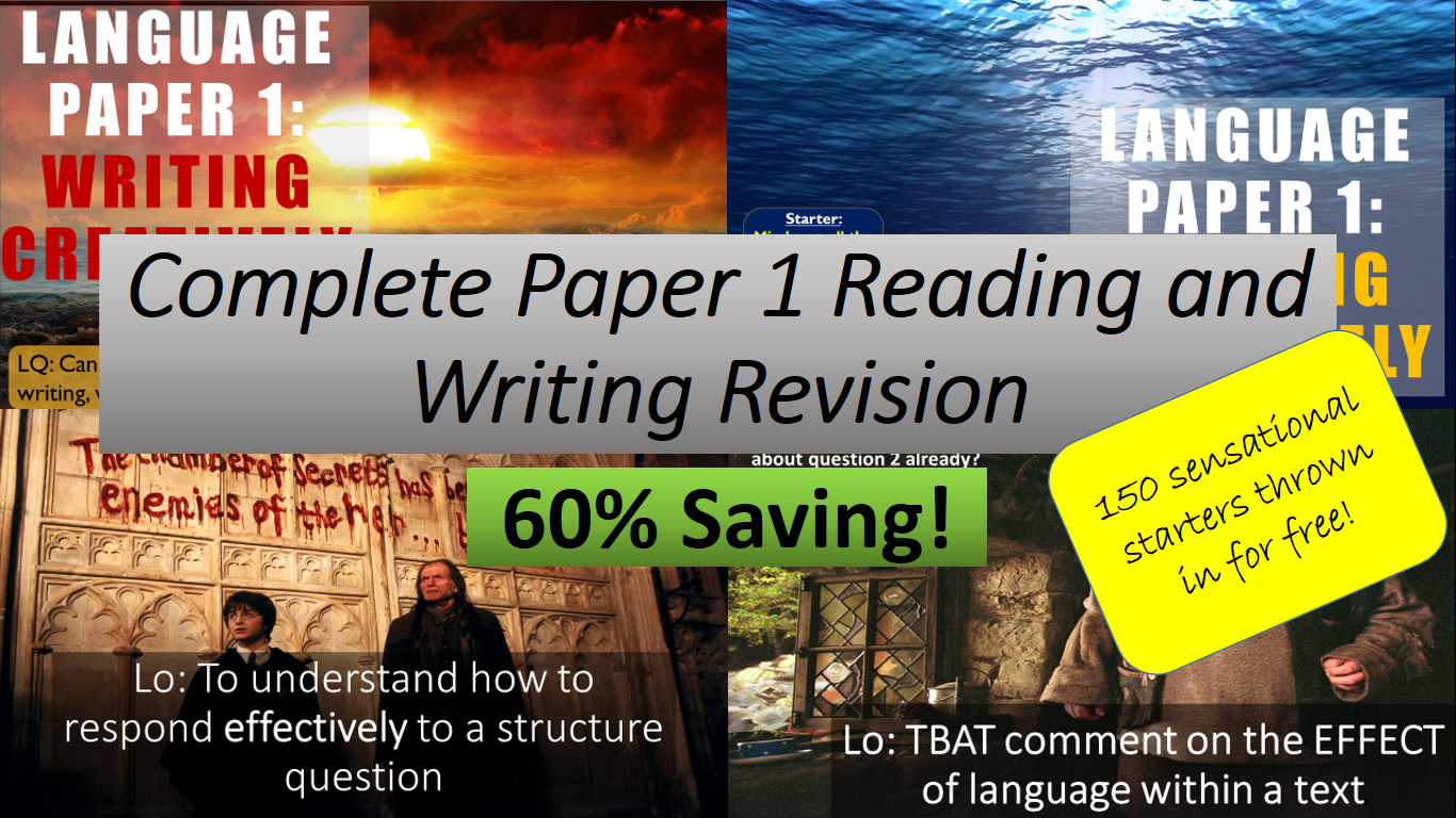 Complete Language Paper 1 Revision / SOW - Reading and Writing. AQA 9-1 English Language. 60% Saving!