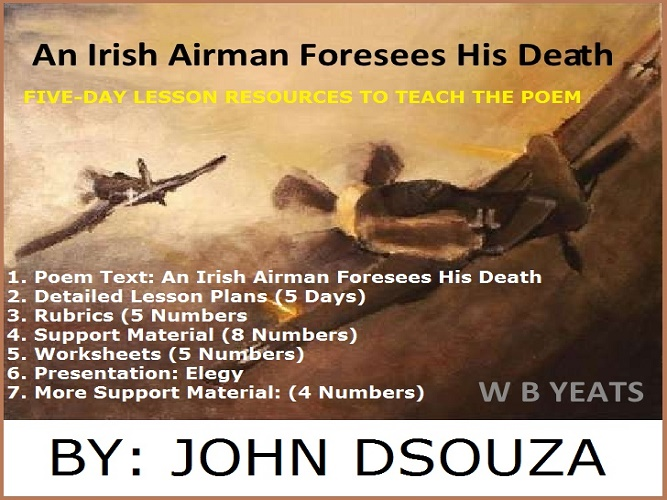 an irish airman foresees his death essay An irish airman foresees his death in william butler yeats' poem, an irish  airman foresees his death, he focuses on man's inner nature he touches on  the.