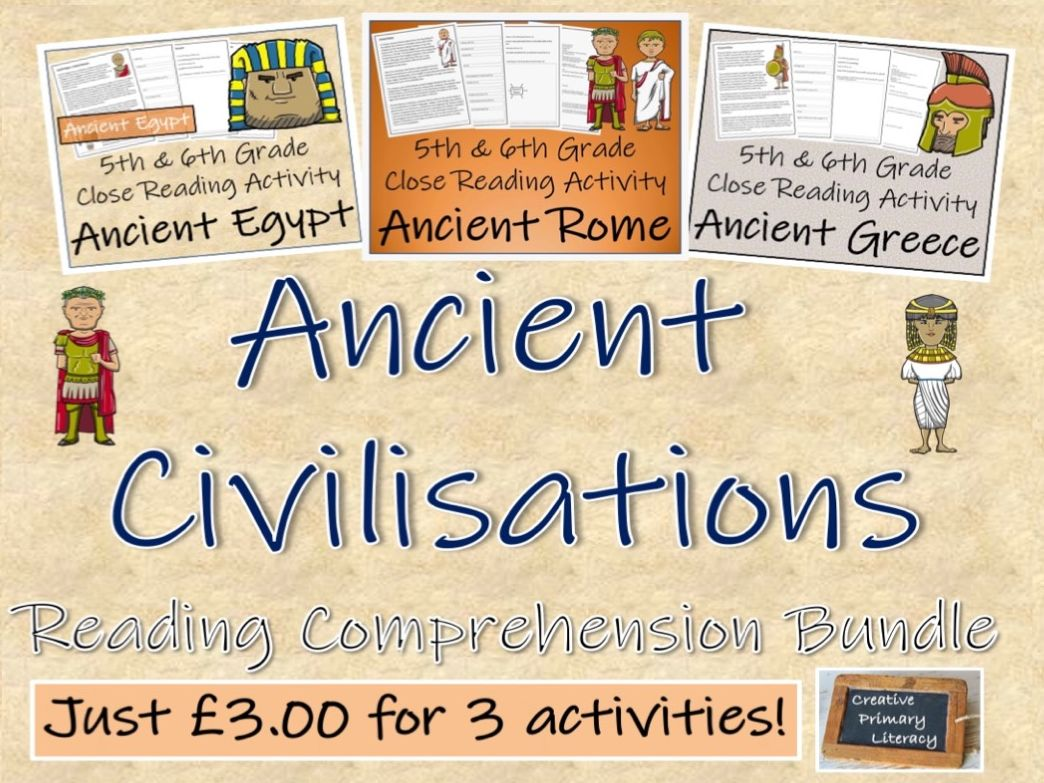 UKS2 History - Ancient Civilisations - Bundle of Reading Comprehension Activities