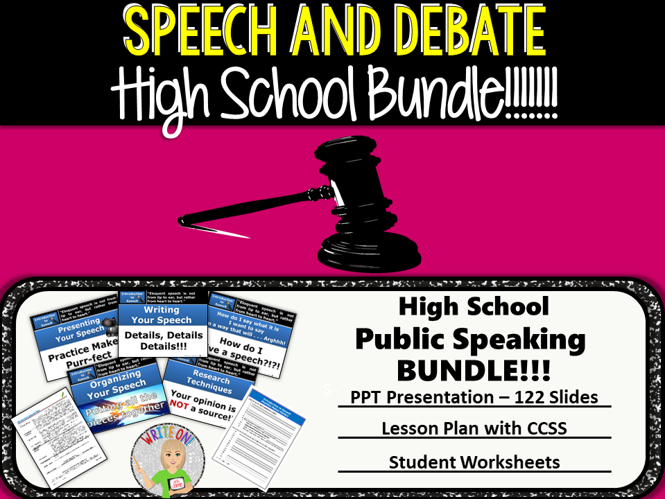 PUBLIC SPEAKING DEBATE AND SPEECH KNOW YOUR AUDIENCE High – Public Speaking Worksheets