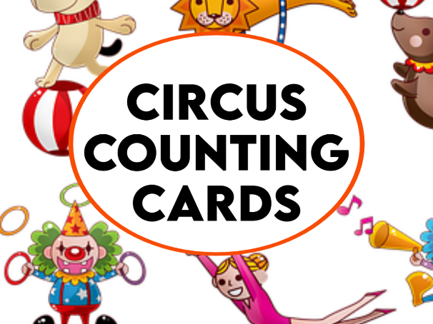 Circus Counting to 12 Cards
