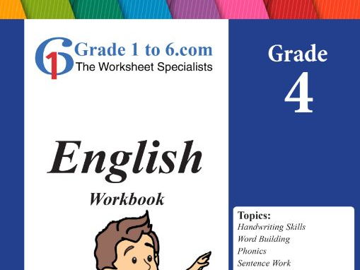 Grade 4 English Workbook/Worksheet bundles from www.Grade1to6.com Books