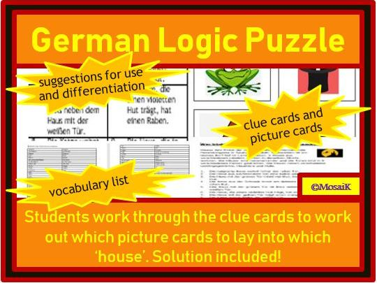German: problem solving / logic puzzle - perfect for use around Halloween