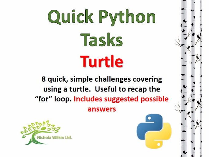 Turtle (Quick Python Programming  Challenges)