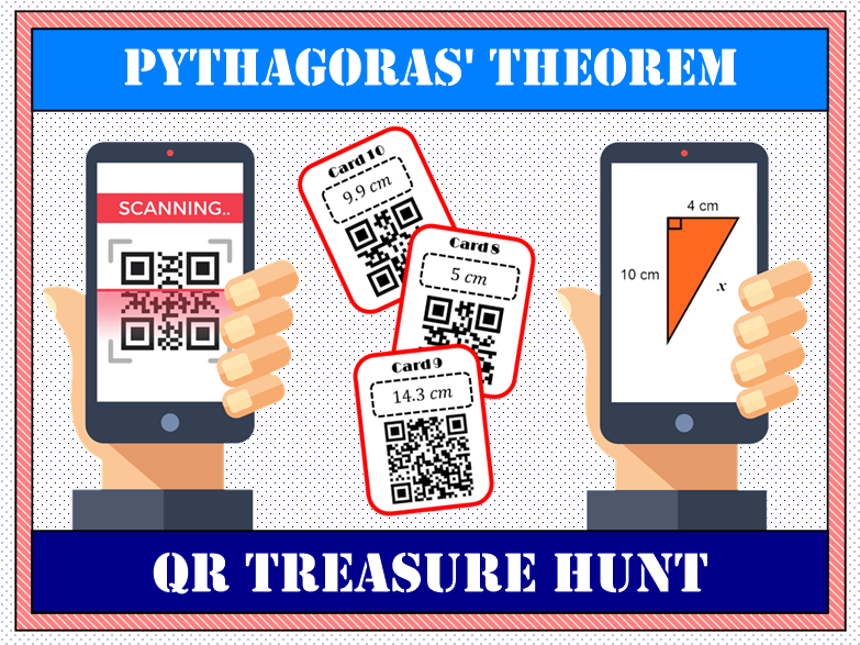 📐 Pythagoras' Theorem QR Treasure Hunt 📱