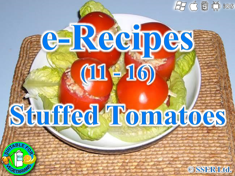 24.   Stuffed Tomatoes (e-Recipe)