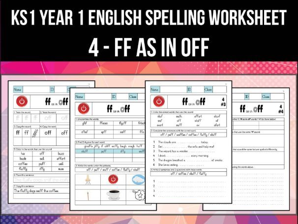 Spelling & Phonics Worksheet - f sound spelled FF