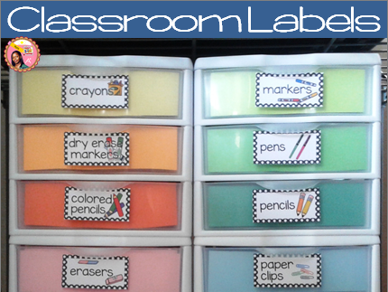 Classroom Labels plus Editable labels Polka dot Style