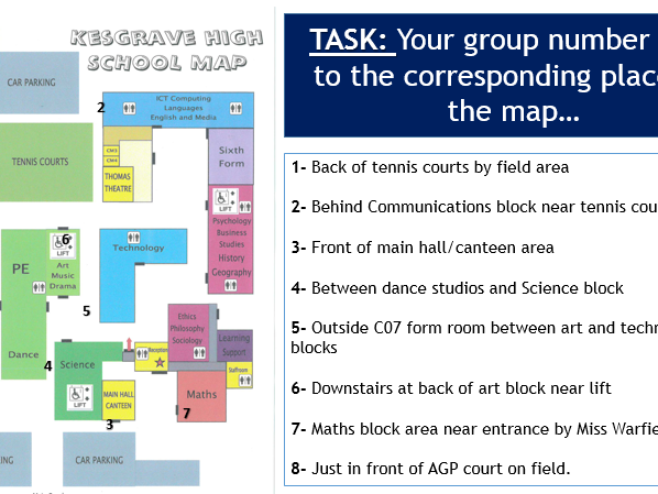Map Skills - L9 Orienteering  (Lesson and Resources)