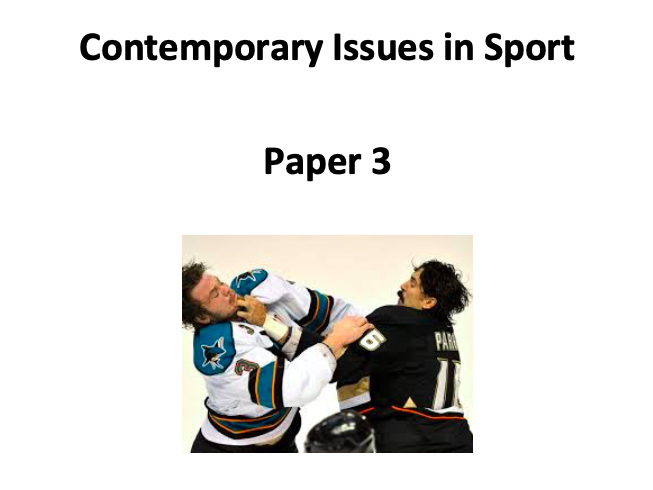 A-Level PE (OCR): Contemporary Issues Workbook