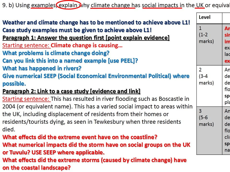 2017 NEW OCR B Enquiring Minds Year 9 CLIMATE CHANGE 1-14 Bundle Including Fieldwork and End of Unit Test