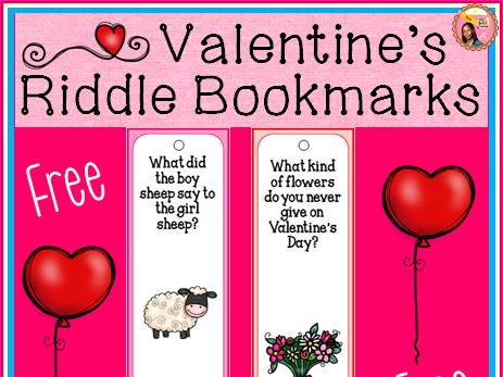 Valentine's Day Bookmarks - Free
