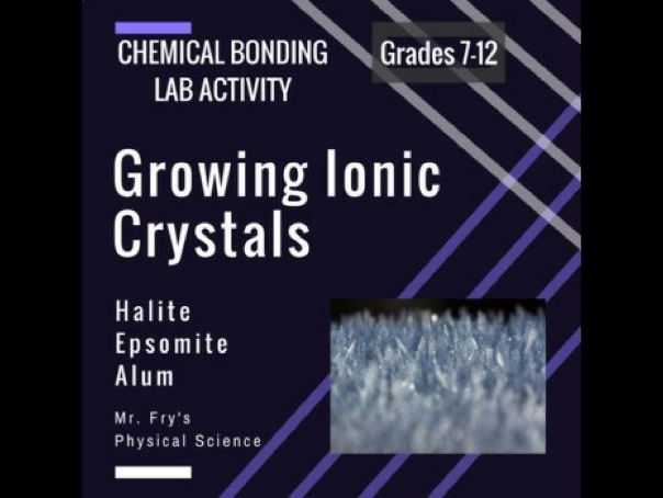 Chemical Bonds Lab: Growing Ionic Crystals! Solutions, Solubility, Saturation
