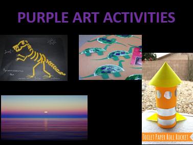 PURPLE/DINOSAUR ART ACTIVITIES