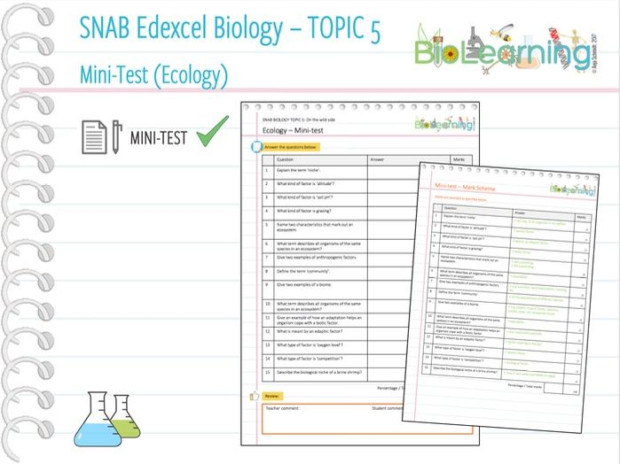 Ecology - Mini-test (KS5)