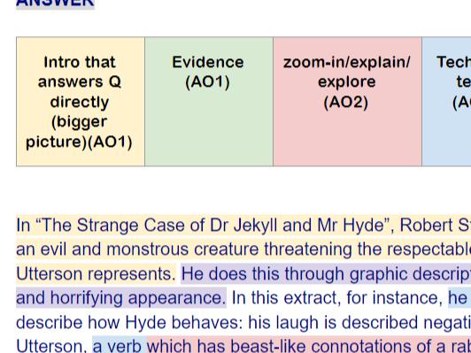 Jekyll & Hyde Exam Q. Model Opening