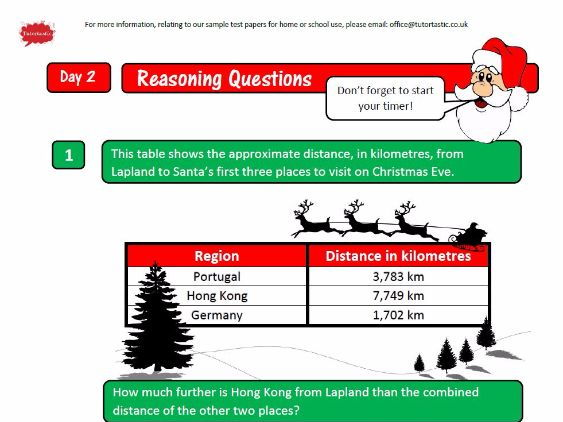 Twelve Days of Christmas Y6 SATs Revision Booklet - Arithmetic, Reasoning & Grammar