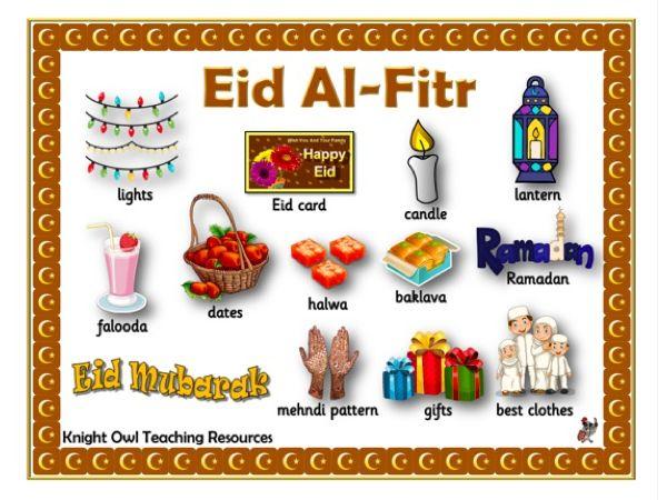 Eid Al-Fitr Word Mat