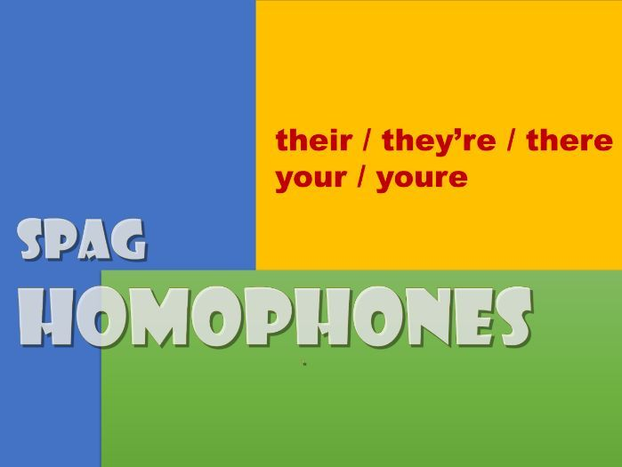 KS2/3 homophones worksheet: your/you're; their/there/they're