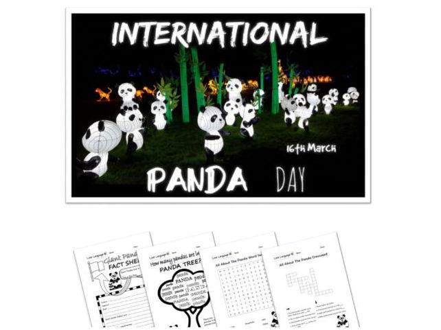 International Panda Day - Presentation and Activities