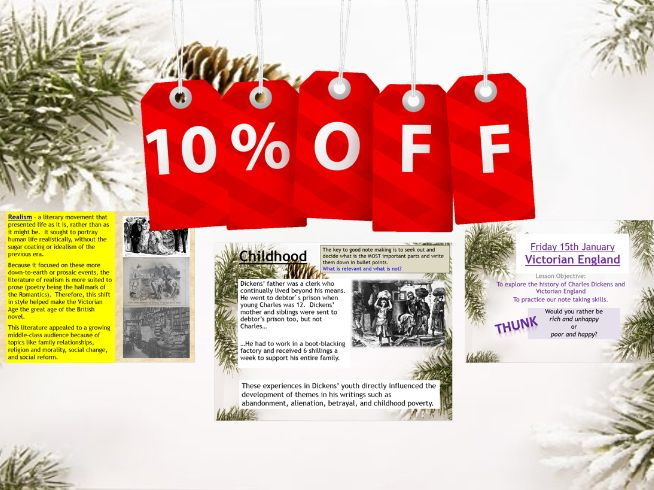 Charles Dickens' 'A Christmas Carol' -3 x Context Lessons 10% off!