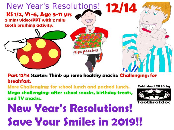 12/14 New Year's Resolutions! Save Your Smiles in 2019!
