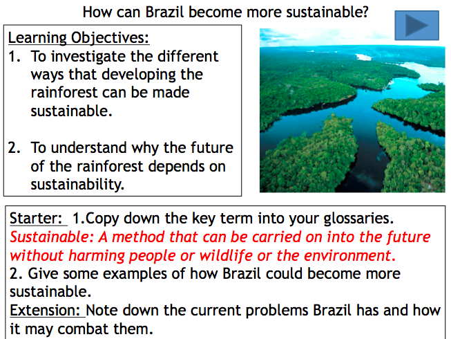 Lesson 8: How can Brazil become more sustainable?