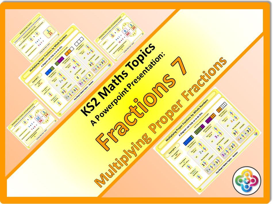 Fractions 7: Multiplying Proper Fractions KS2