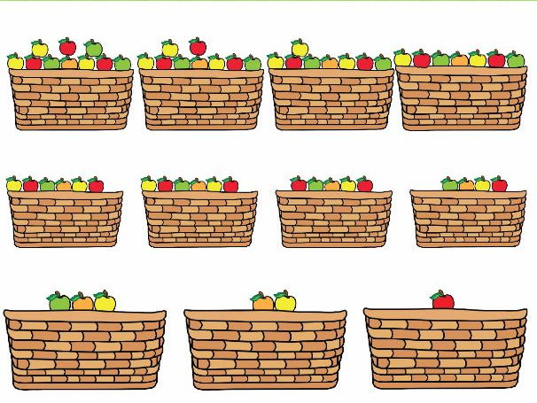 Couting Apples Clipart