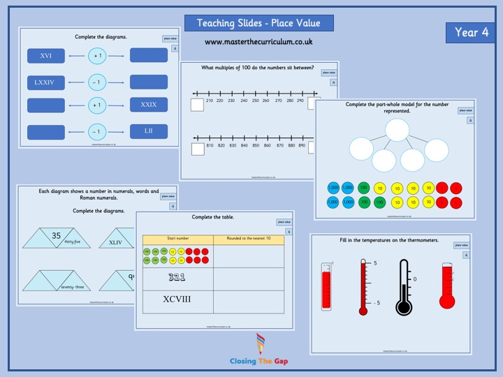 Year 4- Autumn Term- Block 1- Place Value Teaching Slides- White Rose Style