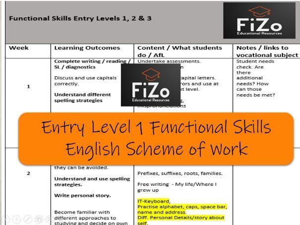 Functional Skills English Scheme of Work (33 week)