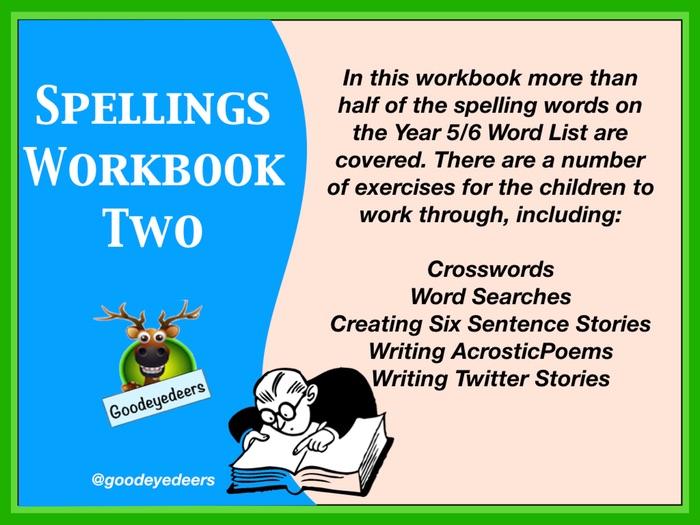 Spellings  Workbook 2 - Year 5/6