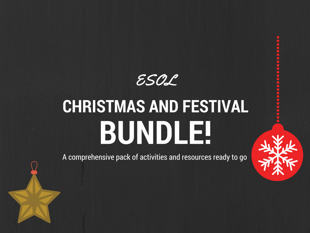 Christmas and Festival Activities and Worksheets for ESOL Learners