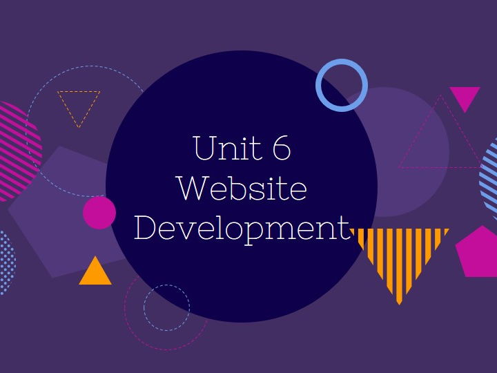 BTEC IT Level 3 NQF - Unit 6: Website Development - Learning Aim A - Principles of Design