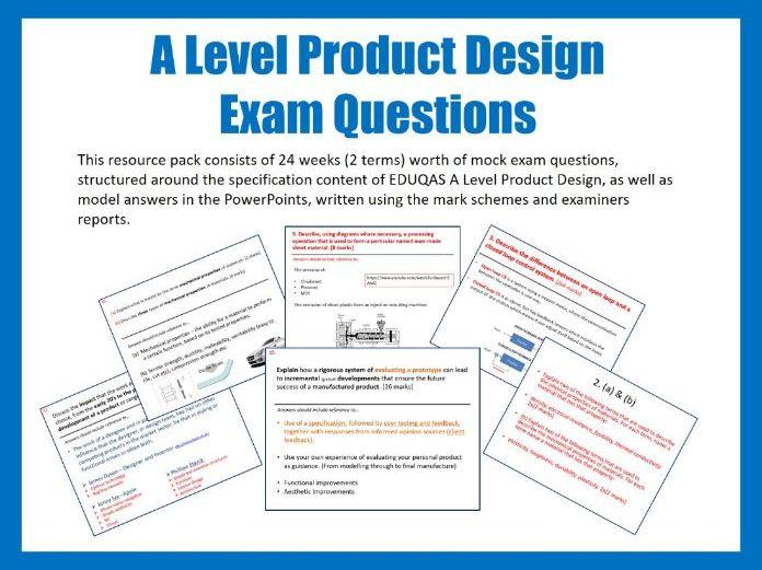 A Level Product Design Exam Prep Questions