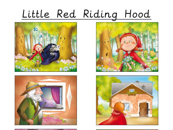Story Sequencing - Little Red Riding Hood