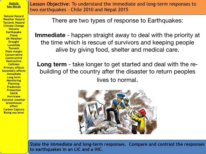 AQA Natural Hazards - Responses to Earthquakes