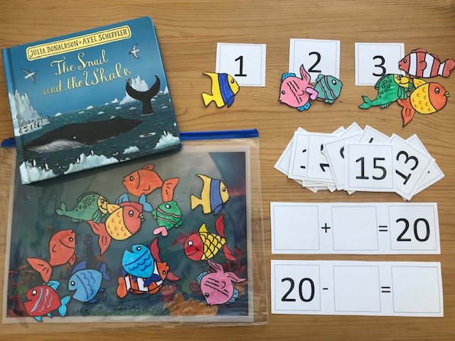 EYFS/KS1 Maths Activities 'Snail and the Whale'