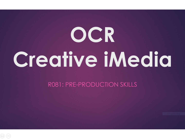 Complete OCR Creative iMedia R081